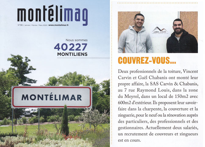 Carvin&Chabanis - article presse Montelimag